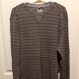 Ruff Hewn Waffle Knit Striped Shirt